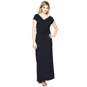 GAP L-Tall Cowl Neck Drapey Maxi Dress Navy